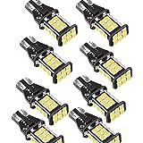 T16 LED バックランプ 爆光1200ルーメン キャンセラー内蔵 バックランプ T16 / T15 3020LED24連 12ヶ月保証 12V 無極性 ホワイト 後退灯 バックライト 50000時間以上寿命 (8個セット)