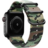Youther for Apple Watch Bands, Soft Silicone Strap Wristbands for Apple Watch Sport Series 3 Series 2 Series 1 Black 42mm 38m