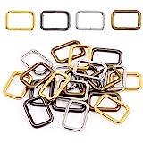Swpeet 60Pcs Heavy Duty 1 Inch / 25mm Metal Rectangle Ring, Webbing Belts Buckle Metal Rings for for Belt Bags DIY Accessorie
