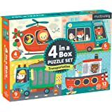 Mudpuppy 9780735353855 Transportation 4-In-A-Box Puzzle Set