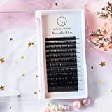 Eyelash Extensions 0.15mm D Curl 8-15mm Mixed Tray, Semi-Matte Black Natural Soft Individual Eyelashes Extension for Salon Pr