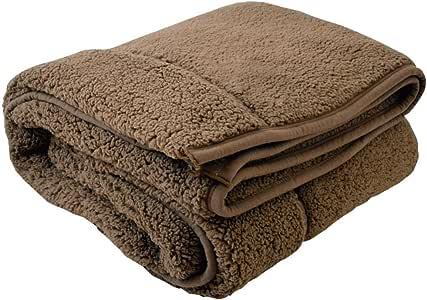 包まれた瞬間からポカポカ 二枚合わせの温もり もこもこ毛布 ブラウン ダブル 180x200cm