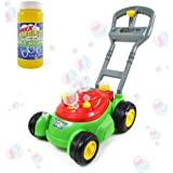 Sunny Days Entertainment Bubble-N-Go Deluxe Toy Bubble Lawn Mower with 4 oz Bubble Solution | No Batteries Required | Push Bu