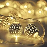 Globe String Lights,CMYK 13 ft 40 LED LED Fairy String Lights Battery Operated for Indoor,Party,Patio,Wedding,Bedroom,Christm