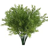Nahuaa Fake Outdoor Plants, 4PCS Artificial Greenery Bush Faux Plastic Shrubs Table Centrepieces Arrangements Inddor Outdoor