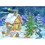 Minisan パズル 1000ピース ジグソーパズル 雪が降る夜のクリスマス 風景 知育 puzzle (50 x 75 cm)
