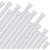 Halsouy Cable Zip Ties Nylon Self-locking Wire Ties 30 Pack (20 Inch, White)