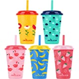 Reduce GoGo's, 5 Pack – 12oz Cups with Straws for Kids, The Perfect Toddler Tumbler – These Straw Cups for Kids are Dishwashe