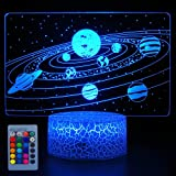 HYODREAM Solar System Optical Illusion Lamp Universe Space Galaxy Night Light for Kids Boys and Girls as on Birthdays or Holi