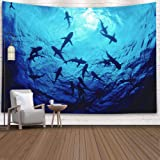 Shorping Father Gift Tapestry, 60x50Inches Home Wall Hanging Tapestries Art for Décor Living Room Dorm Diving Sea Cortez Mako
