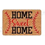 Joelmat Entrance Home Sweet Home Baseball Non-Slip Indoor Rubber Door Mats for Front Door/Bathroom/Garden/Kitchen/Bedroom 23.