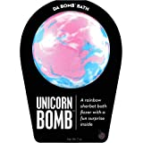 Da Bomb Unicorn Bomb, Pink/Blue/White, Rainbow Sherbet, 7 Ounce