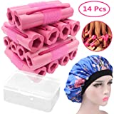 Hair Rollers Curlers, Foam Sponge Hair Curlers, Pillow Hair Curlers, No Heat Sleeping Hair Rollers for Long & Short & Thick &
