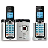VTech DS6621-2 DECT 6.0 Cordless Phone with Bluetooth Connect to Cell/Answering System, Silver/Black with 2 Handsets