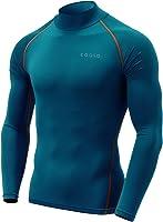 ( 特斯拉 Tesla ) 冬用磨毛修身长袖高领打底衫 [ 防紫外线吸汗速干防寒保暖 ] 抗压耐磨能量弹力内衣 T32