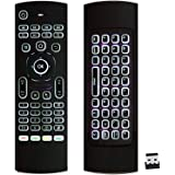ProChosen 2.4G Backlit Air Mouse Remote, Wireless Keyboard and Infrared Learning for Kodi Android TV Box, Smart TV, PC, HTPC,