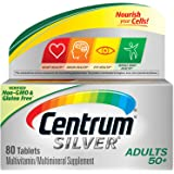 Centrum Silver Multivitamin for Adults 50 Plus, Multivitamin/Multimineral Supplement with Vitamin D3, B Vitamins, Calcium and