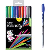 BIC Intensity Fineliner Medium Point Pens, 1.0mm – Set of 10 Markers, Reusable Pack – Assorted Fashion Colours, No Bleed for