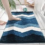 Bathroom Rugs, Soft Shower Plush Mat, Microfiber Absorbent Shaggy Carpet Bath Mats, Non Slip, Quick Dry, Washable, 20 x 31.5