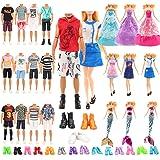 Barwa 3 Fashion Dresses + 3 Wedding Dresses + 3 Mermaid Swimsuits + 10 PCS Shoes for Barbie + 6 Clothes + 3 PCS Shoes for Ken