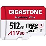 Gigastone Micro SD Card 512GB マイクロSDカード Gaming Plus Nintendo Switch動作確認済 高速 100MB/s 4K 撮影 SDXC UHS-I A1 Class 10