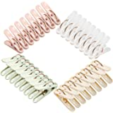 Plastic Clothespins, 32 Pack Laundry Clothes Pins Clips with Springs, 4 Colors Clothes Drying Line Pegs for Kitchen Outdoor T