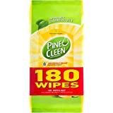 Pine O Cleen Household Grade Disinfectant Wipes, Lemon Lime, 180 pack (3120952)