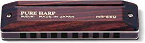 SUZUKI スズキ 10穴ハーモニカ PURE HARP MR-550 C調