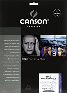 キャンソン 写真用紙 インフィニティ ラグ・フォトグラフィック A4 10枚 6211045 【正規輸入品】
