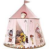 ZUAN TIME 子供のためのインディアンキャッスルプレイテント、男の子と女の子のためのポップアッププレイハウス、キャリングケースに便利に折りたためる、屋内と屋外で使用するためのプリンセスプレイハウスママヘルパー (Color : 漫画のテント)
