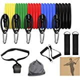 DOREEM Resistance Bands Set Men, Exercise Bands Workout Bands with Handles, Door Anchor, Ankle Straps, Carry Bag, Home Fitnes