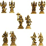 Aakrati Dashavataram -Ten Incarnations/Avatars of Lord Vishnu -Lord Vishnu All Avtar Statues is Made Brass with Details Worke