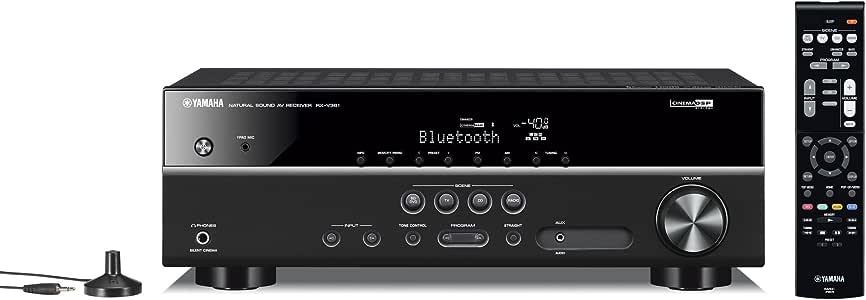 ヤマハ AVレシーバー 5.1ch/4K対応/Bluetooth内蔵 ブラック RX-V381(B)