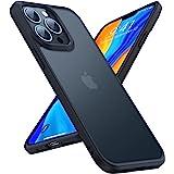 TORRAS 半透明 iPhone 13 Pro Max 用 ケース 耐衝撃 米軍MIL規格取得 マット感 黄ばみなし ストラップホール付き 画面保護 レンズ保護 6.7インチ アイフォン 13 Pro Max 用 カバー ブランク