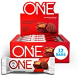 ONE Protein Bars, Peanut Butter Cup, Gluten Free Protein Bars with 20g Protein and only 1g Sugar, Guilt-Free Snacking for Hig