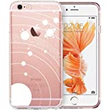 Unov Case Clear with Design Embossed Pattern Soft TPU Bumper Shock Absorption Slim Protective Cover for iPhone 6s iPhone 6 4.