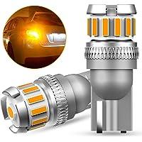 OXILAM T10 LED アンバー サイドウインカー 高輝度 爆光 CANBUSキャンセラー内蔵 イエロー ルームラ…