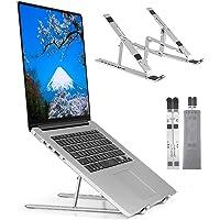 ノートパソコンスタンド 折りたたみ式 ラップトップスタンド アルミ合金 iPadスタンド 7段の高さ調節可能 (silv…