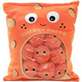 Miss House New Yummy Cheese Puff Stuffed Toy Game Pillow, Cute Plush Cheesy Puffs, Cushion, Delicious Food Dessert Package, B