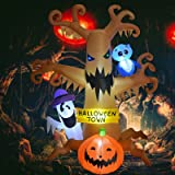 GMELLC 8 Foot High Halloween Blow Up Inflatables Dead Tree with White Ghost,Pumpkin and Owl for Halloween Yard Outdoor Decora