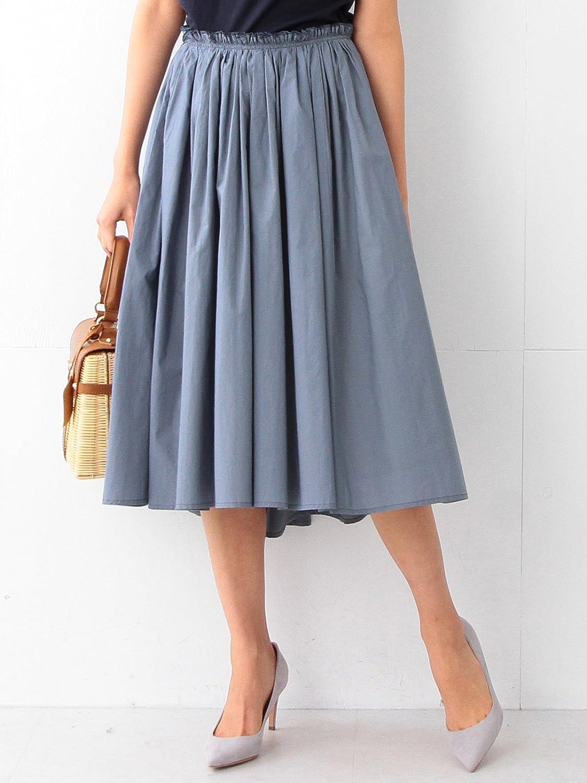 Amazon | (デミルクス ビームス) Demi-Luxe BEAMS / タイプライター ギャザースカート | Amazon Fashion 通販