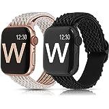 【Amazon限定ブランド】【2個付き】 Wearlizer Apple Watch バンド アップルウォッチ バンド38mm 40mm Apple Watch SE/6/5/4/3/2/1に対応 スタイル Apple Watch6 ナイロン製弾性バ