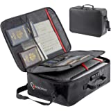 ROLOWAY Fireproof Document Bag (17 x 11.8 x 5 inch) with Lock, Fireproof Document Safe Organizer, Fireproof File Storage Bag,