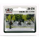 KATO Nゲージ 自転車に乗った中年 24-214 ジオラマ用品