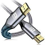 4K HDMI Cable 2M, sweguard HDMI 2.0 UHD 18gbps HDMI Cord Nylon Braided HDMI Supports 4K@60Hz 2K@144Hz 3D 2160p HD 1080p Ether