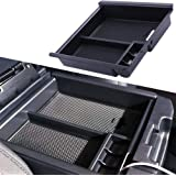 JDMCAR 4350410373 for Tacoma 2016-2019 Center Console Organizer Insert ABS Black Materials Tray, Armrest Box Secondary Storag