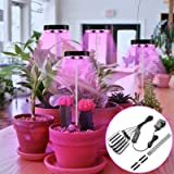 4 Head LED Grow Light for Indoor Plants, 80 Lamp Beads Adjustable Plant Growth Light, 5 Levels Dimming, 3/6/12H Timer, 3 Ligh