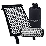 GR Acupressure Mat and Pillow Set - Back and Neck Pain Relief - Relieves Stress, Back, Neck and Sciatic Pain - Comes with...