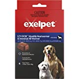 EXELPET Heart and Intestinal Dog All Wormer 4 x 6g Chews, 24g