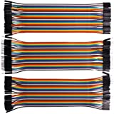 VIPMOON 120pcs Multicolored Dupont Wire 40pin Male to Female, 40pin Male to Male, 40pin Female to Female Breadboard Jumper Wi